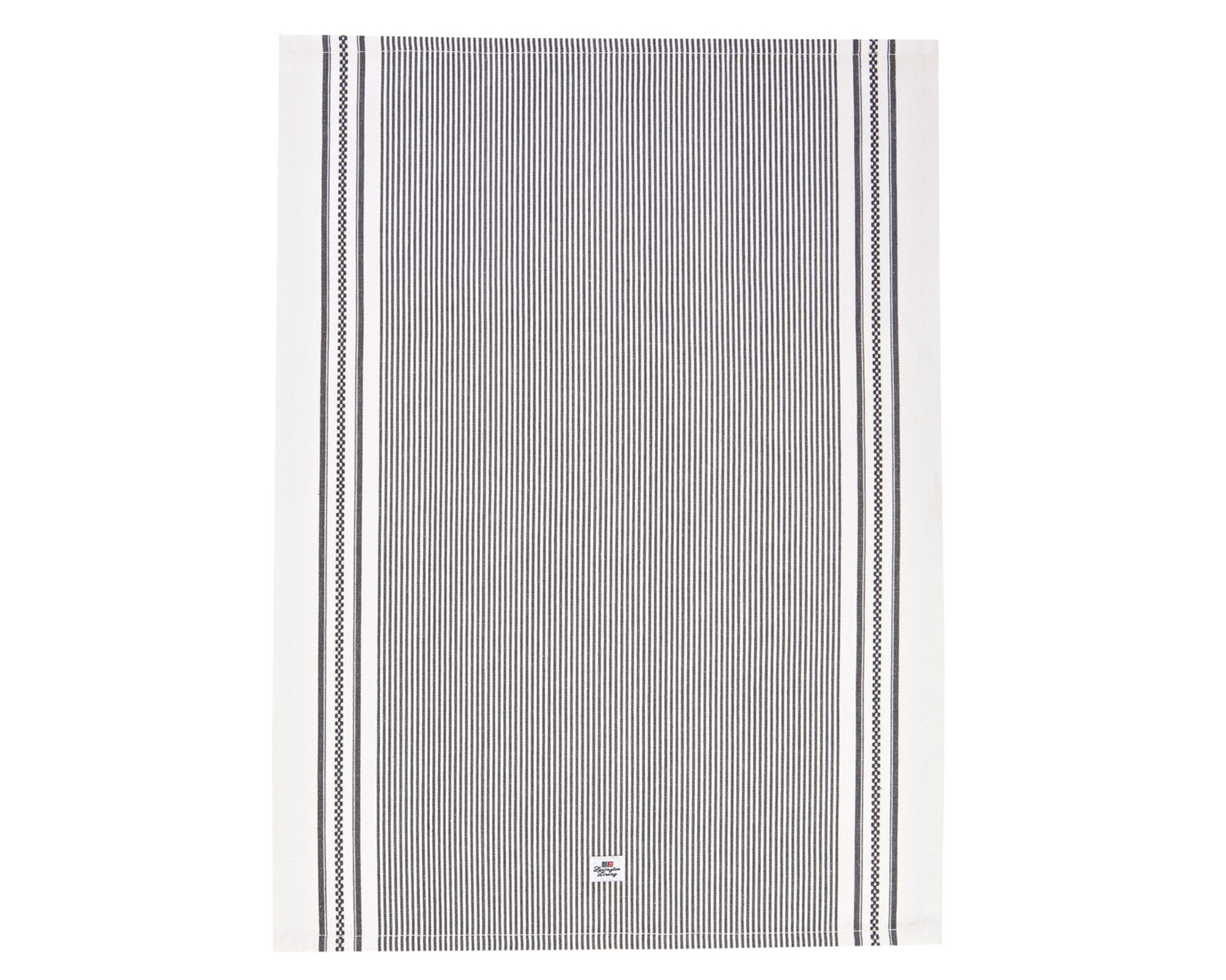 Oxford Dark Gray/White Striped Kitchen Towel