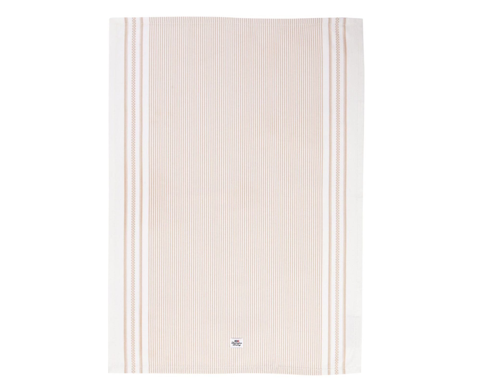 Icons Oxford Beige/White Striped Kitchen Towel