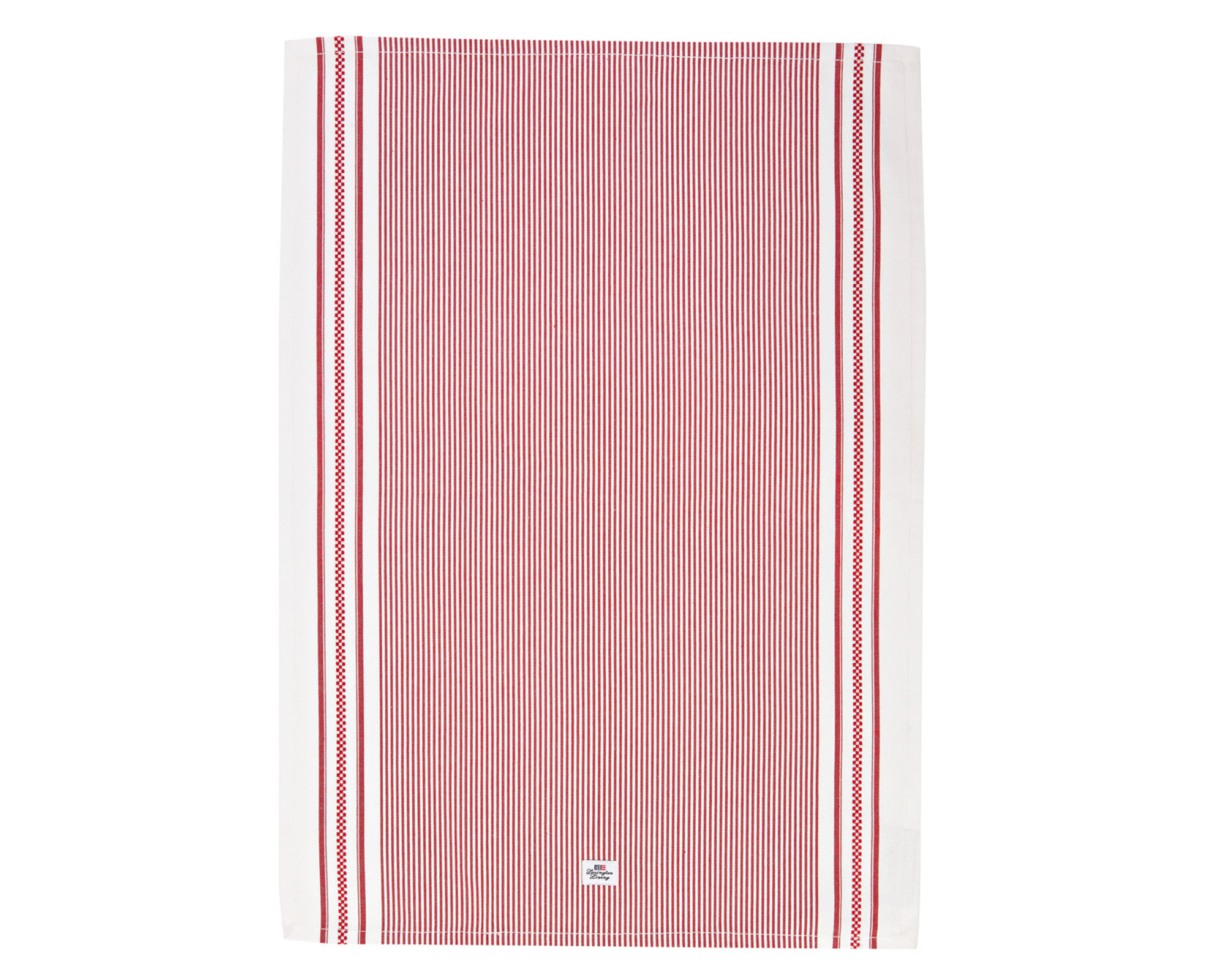 Oxford Red/White Striped Kitchen Towel