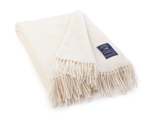 Icons Solid Wool Throw Creme