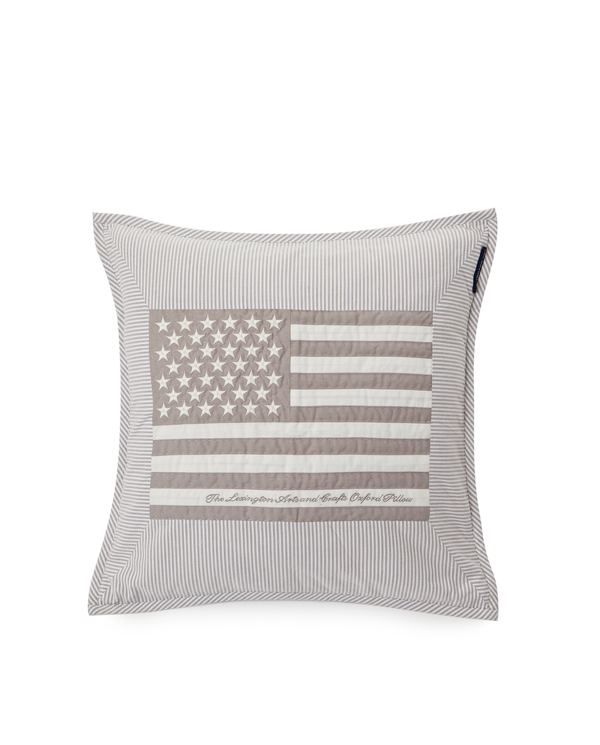 Icons Flag Arts & Crafts Sham Gray/White