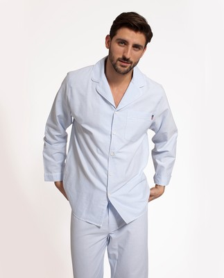 Unisex American Authentic Pajamas Blue/White