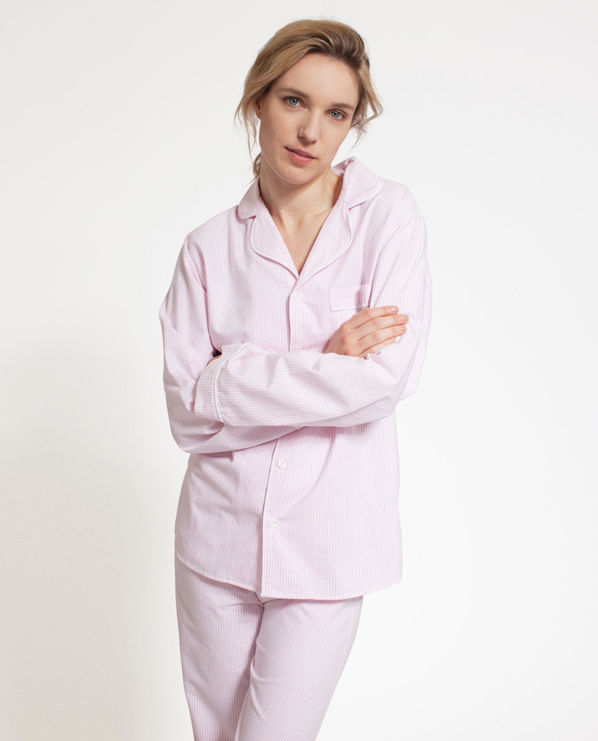 Icons Unisex American Authentic Pajamas Pink/White