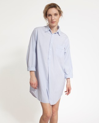 Nightshirt, Blue/White