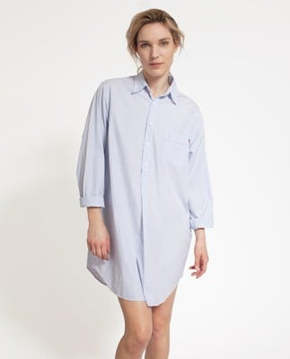 Icons Nightshirt, Blue/White