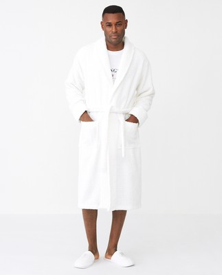 Icons Unisex Original Bathrobe, White