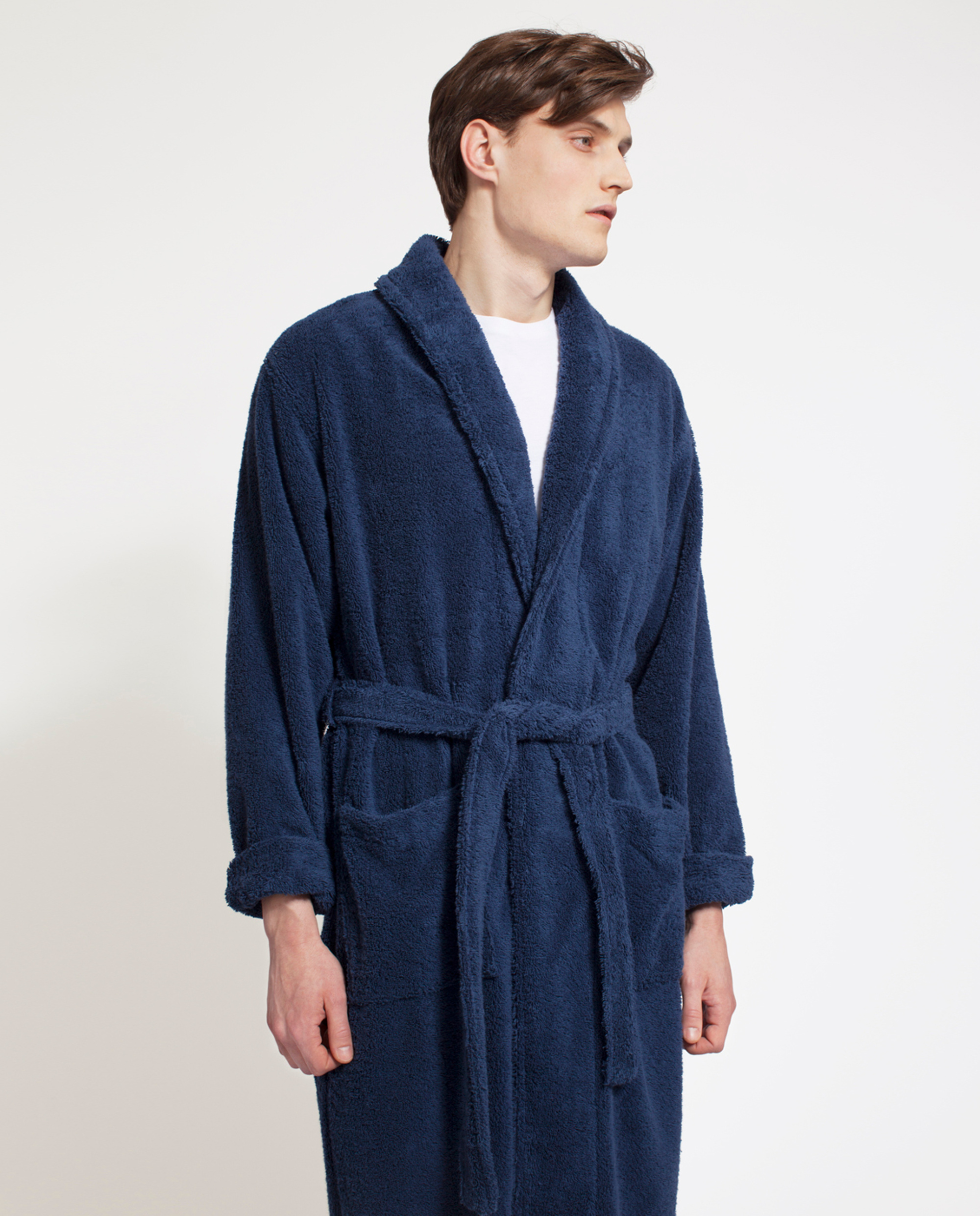 Icons Unisex Original Bathrobe, True Navy