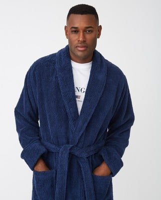 Icons Unisex Original Bathrobe, Navy