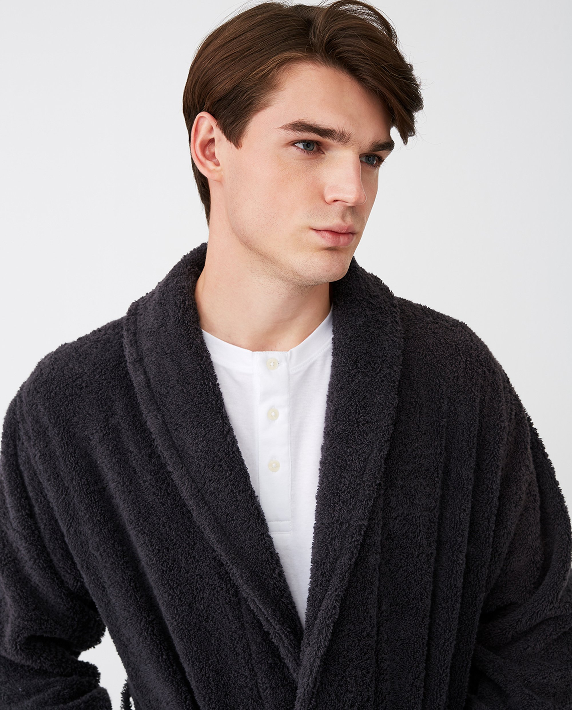 Icons Unisex Original Bathrobe, Charcoal