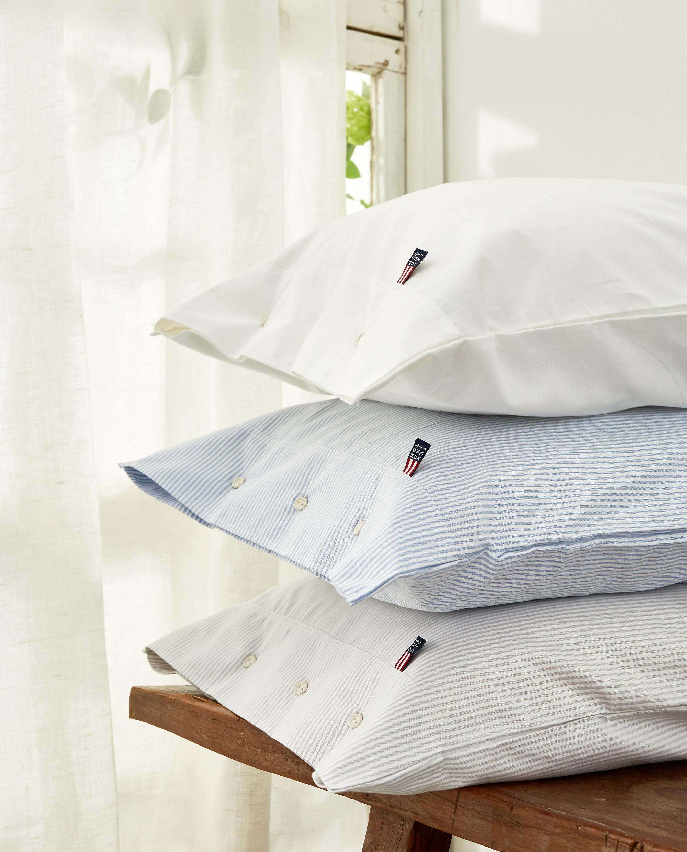 Icons Pin Point Pillowcase, White