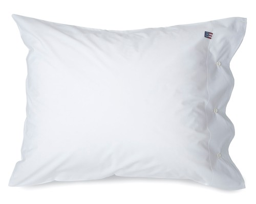 Icons Pin Point Pillowcase, White