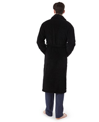 Icons Unisex Velour Robe, Black