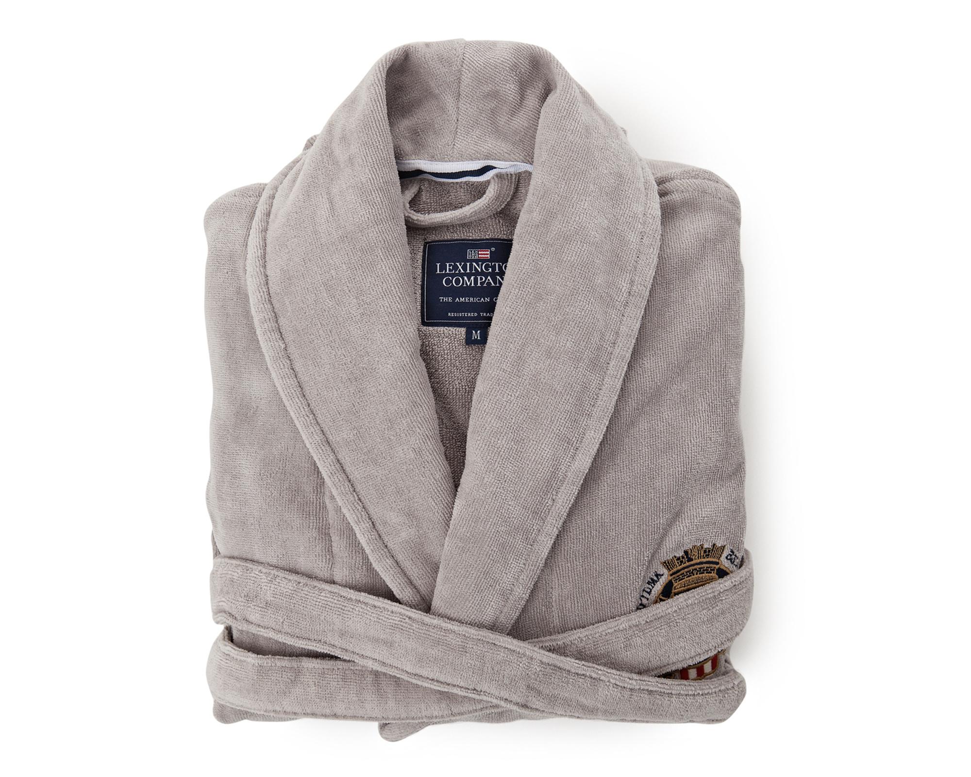 Velour Robe, Gray