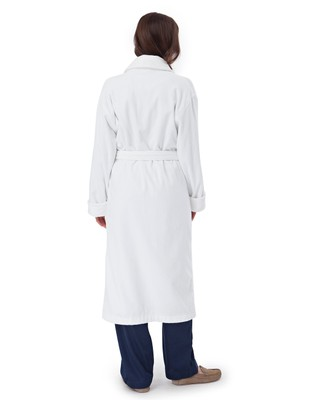 Unisex Velour Robe, White