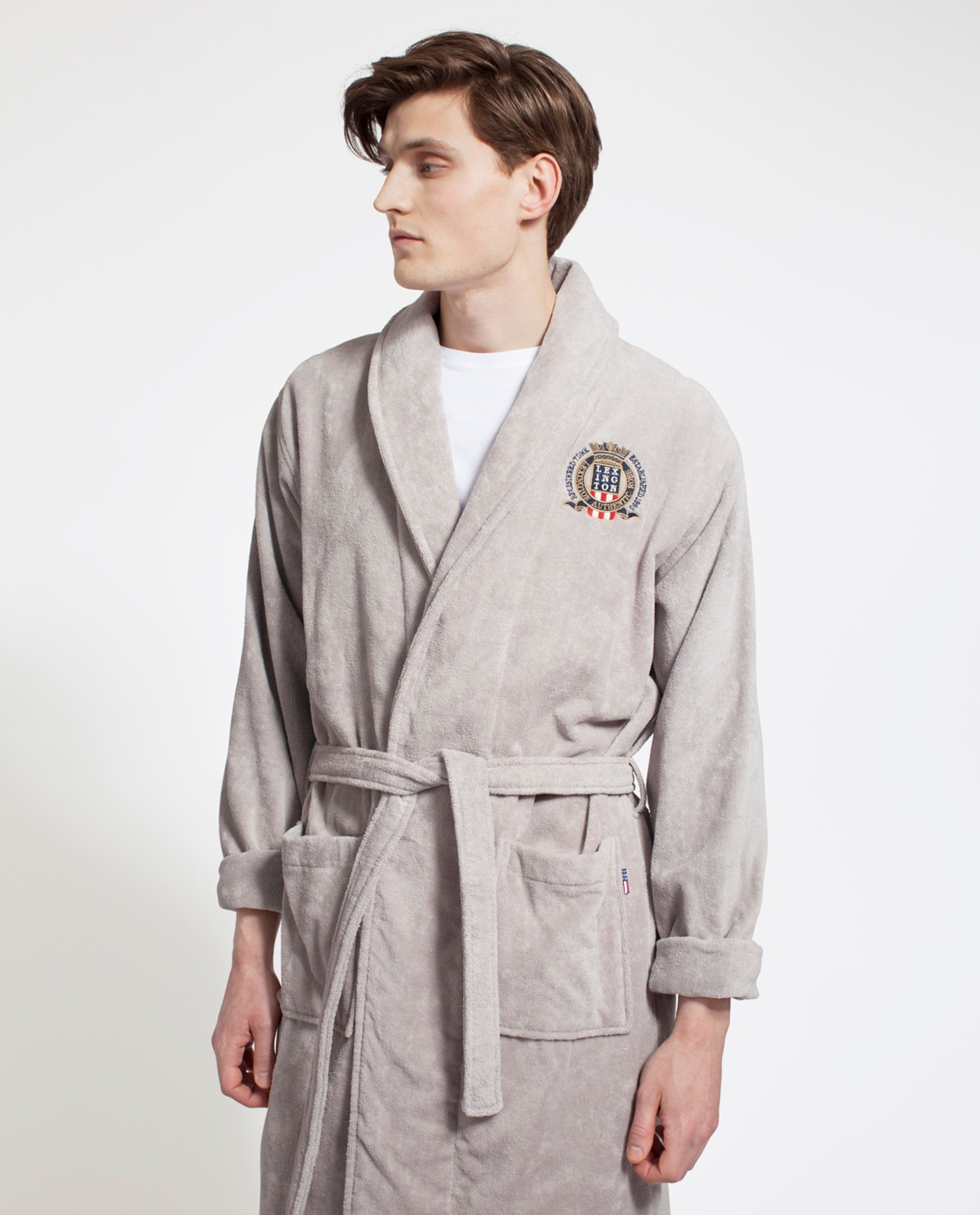 Unisex Velour Robe, Gray