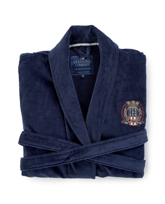 Icons Unisex Velour Robe, Blue