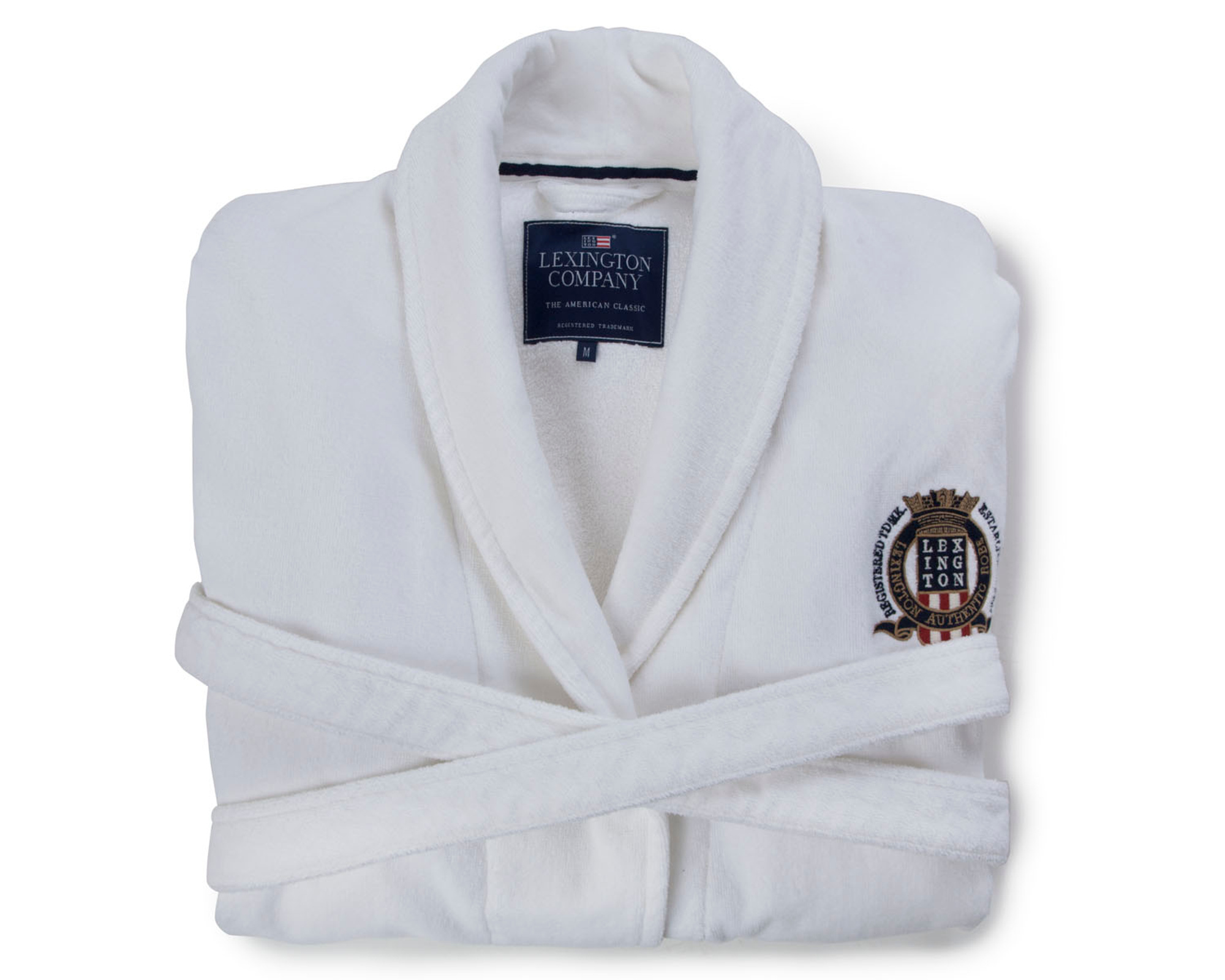 Velour Robe, White