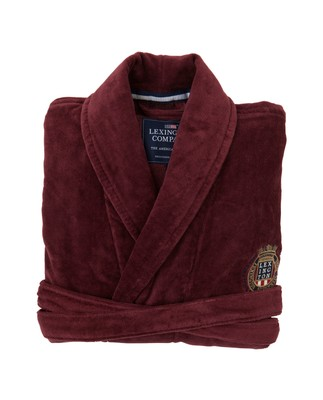 Unisex Velour Robe, Wine