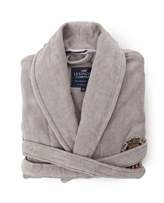 Velour Robe, Gray