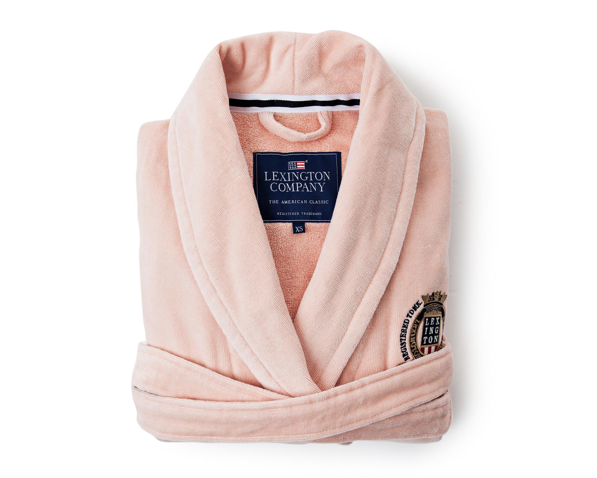 Velour Robe, Pink
