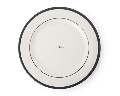 Icons Dinner Plate Gray