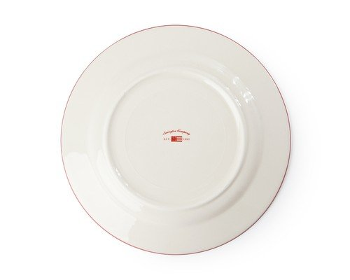 Icons Dessert Plate Red