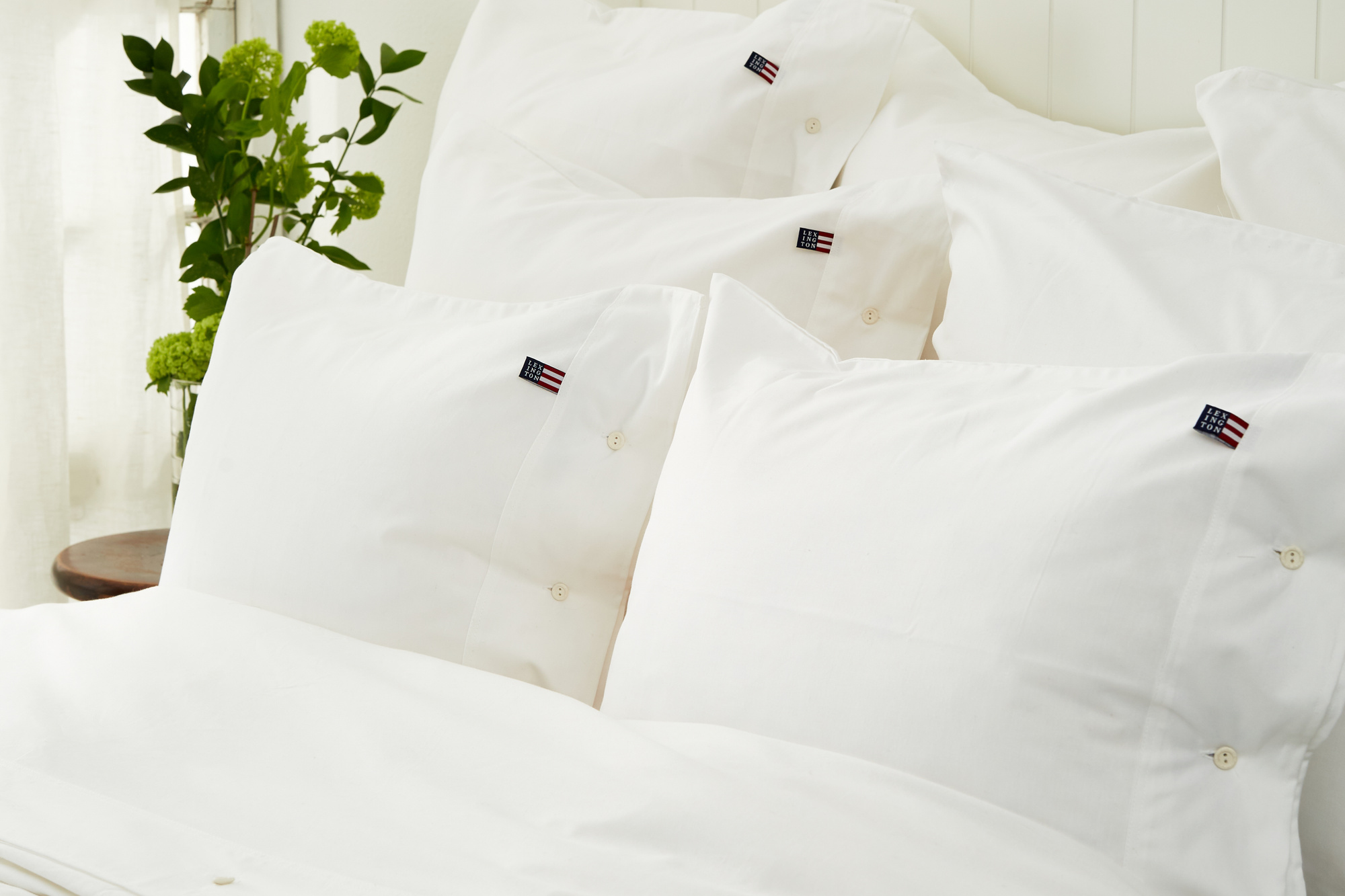 Icons Pin Point Duvet, White