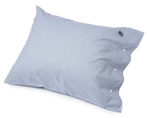 Icons Pin Point Pillowcase, Navy/White