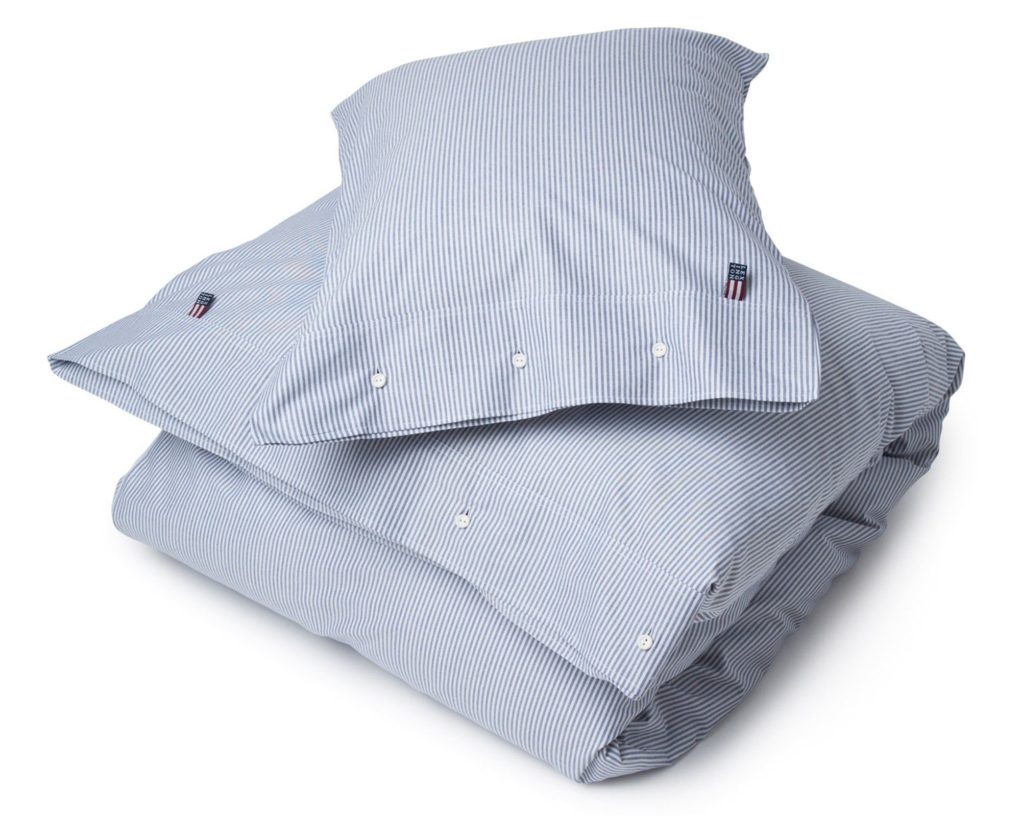 Pin Point Navy/White Flat Sheet