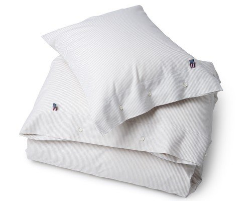 Pin Point Duvet, Beige/White