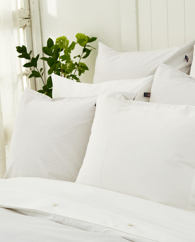 Icons Pin Point Pillowcase, Beige/White