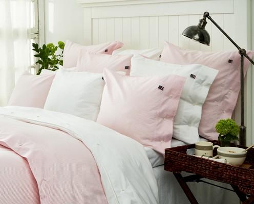Icons Pin Point Pillowcase, Pink/White
