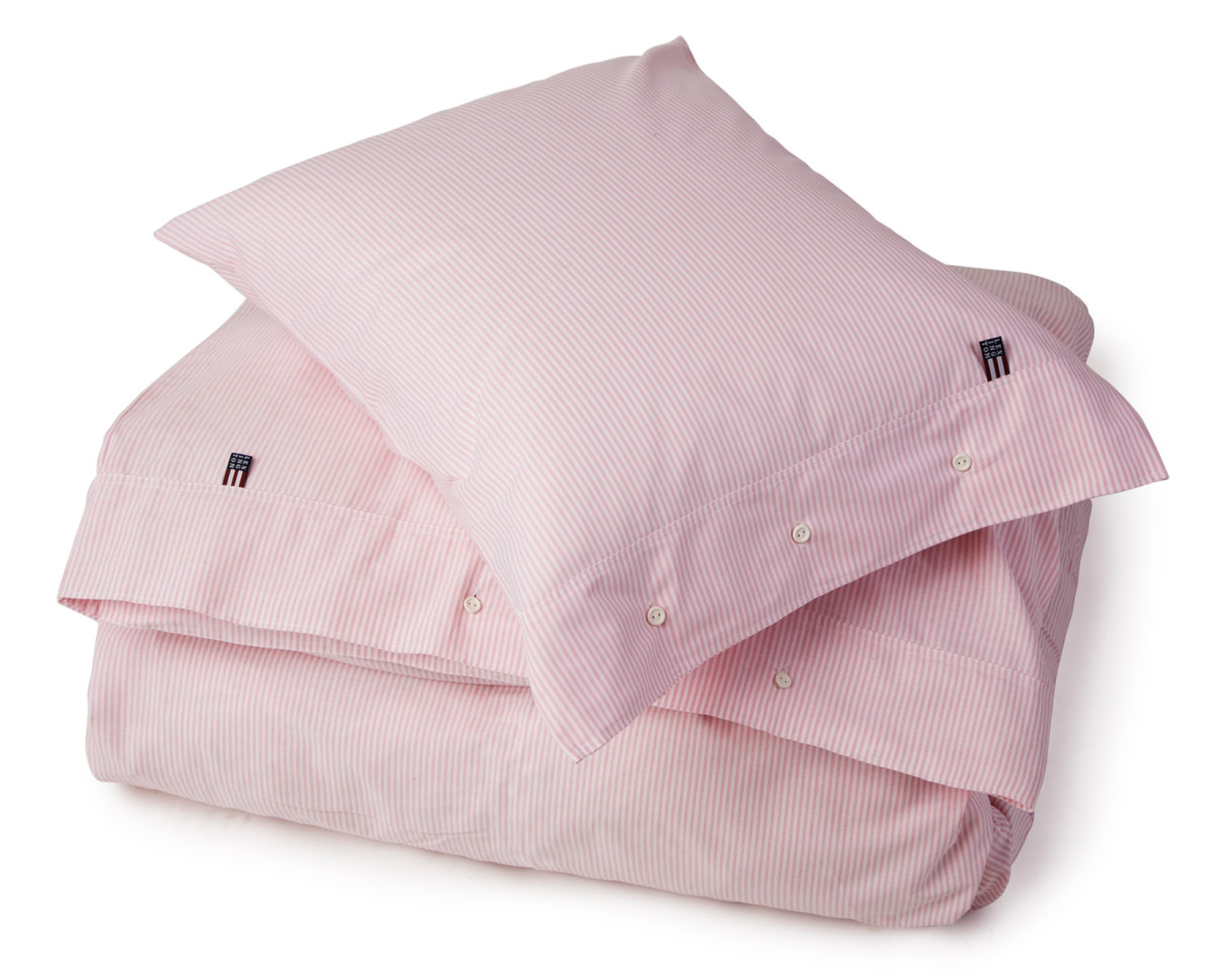 Pin Point Pink/White Flat Sheet