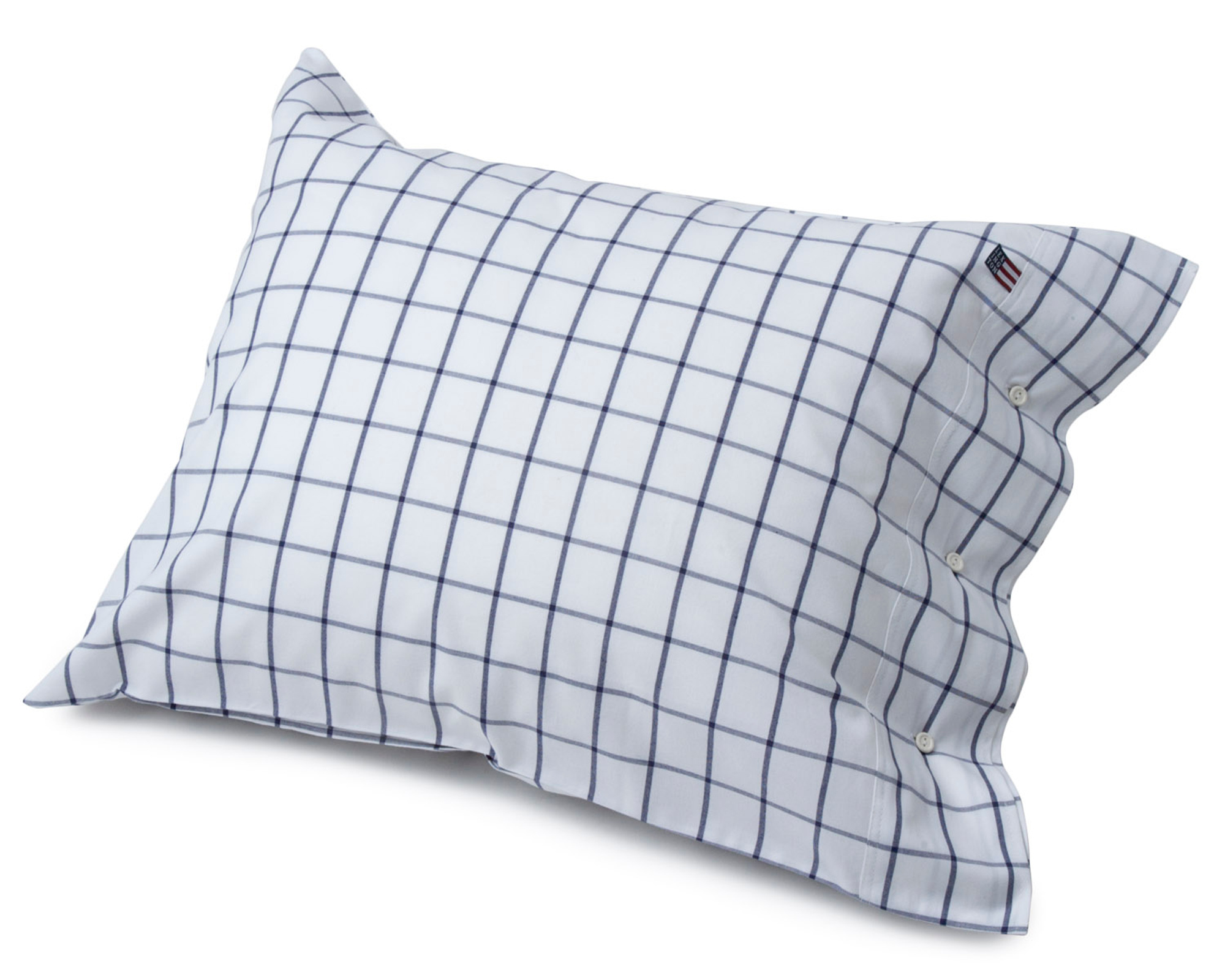 Pin Point Shaker Pillowcase, Navy/White