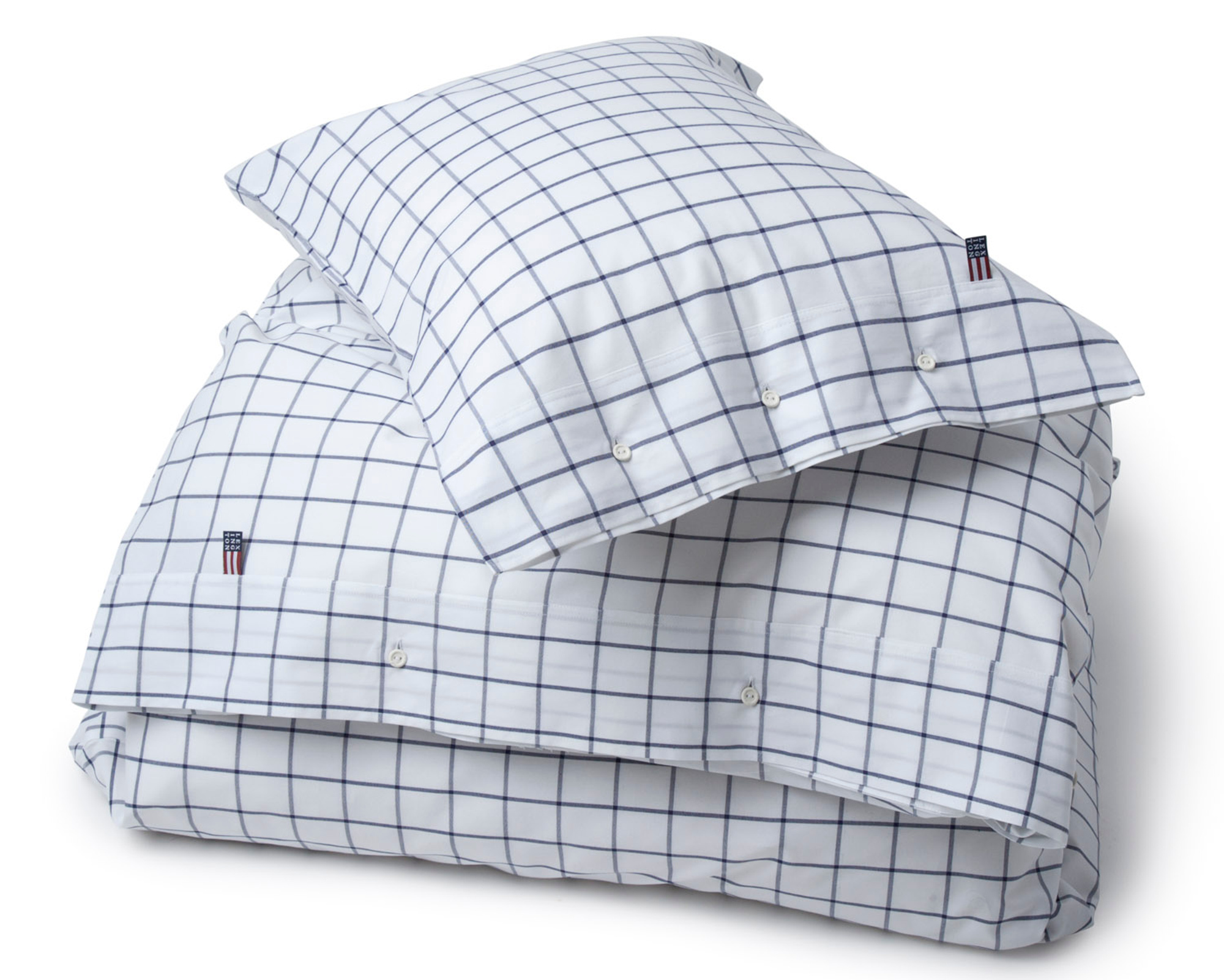 Pin Point Shaker Navy Flat Sheet