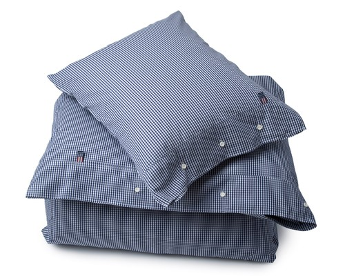 Icons Seaside Navy Check Flat Sheet