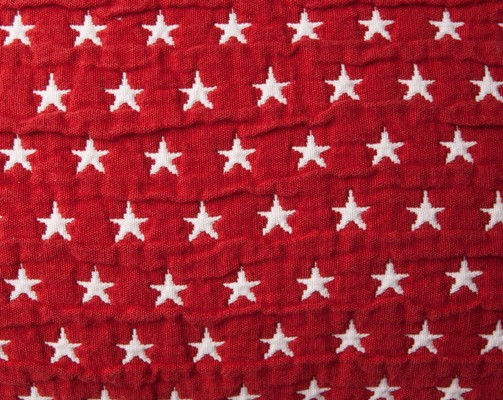 Star Bedspread Red