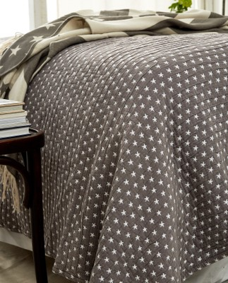 Icons Star Bedspread Medium Gray