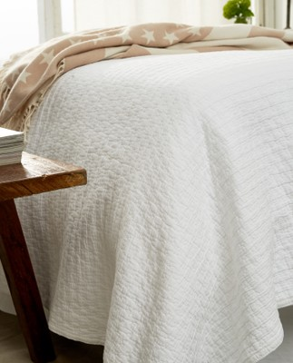 Icons Star Bedspread White