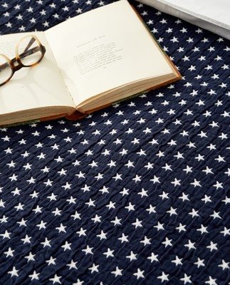 Icons Star Bedspread Navy