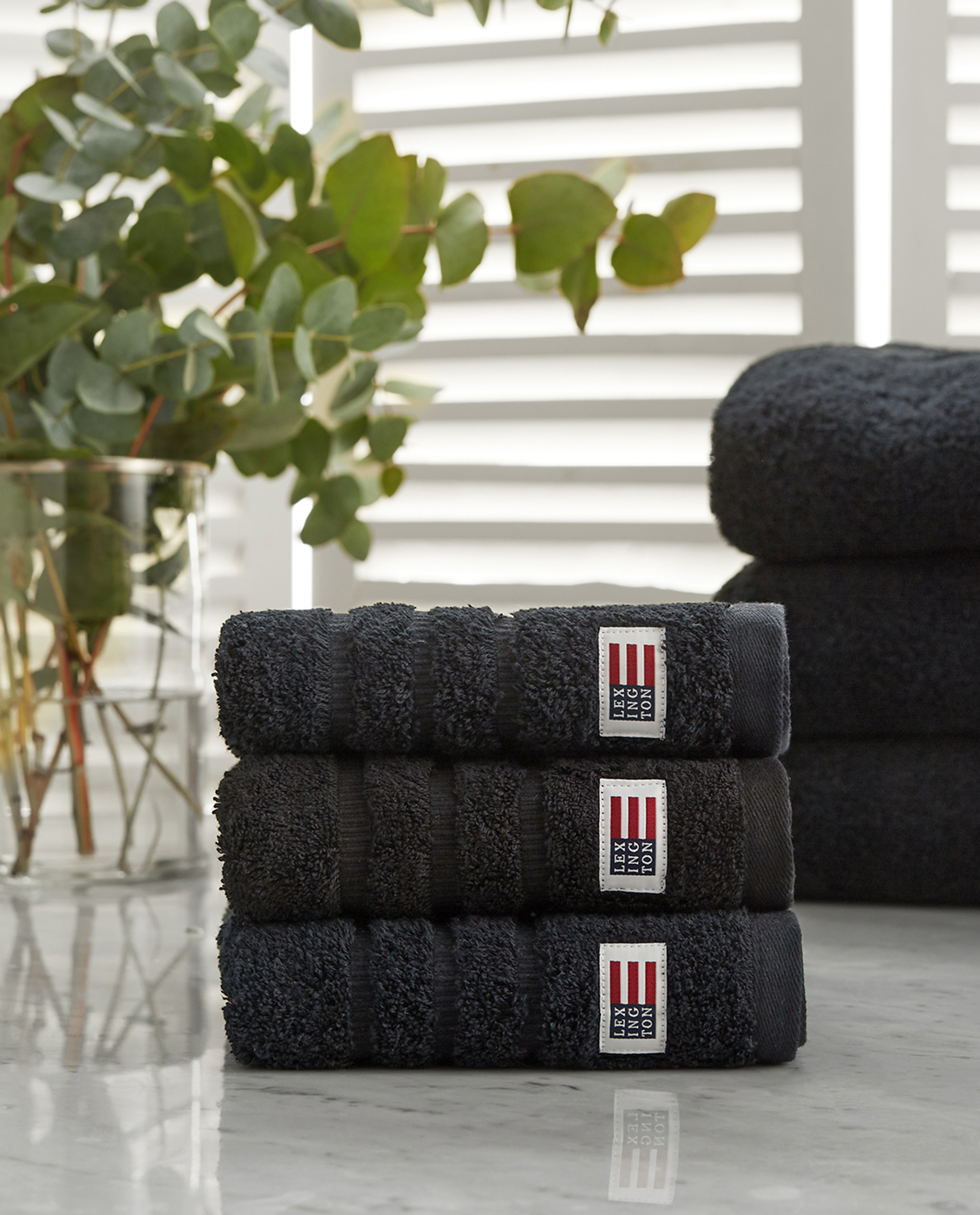 0787587a Icons Original Hand Towel Black