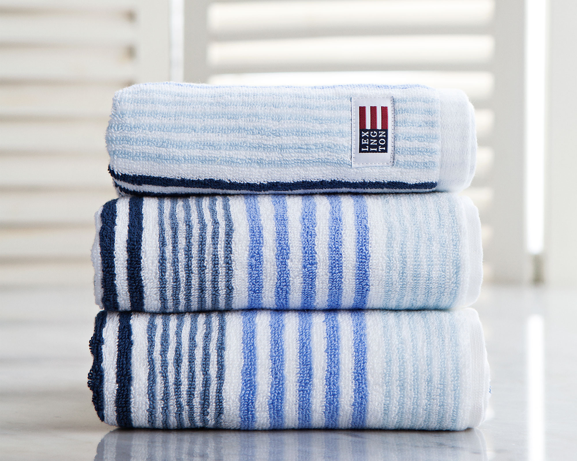 Original Striped Hand Towel Blue