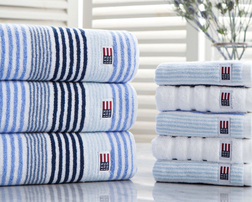 Original Striped Towel Blue, 100x150 cm
