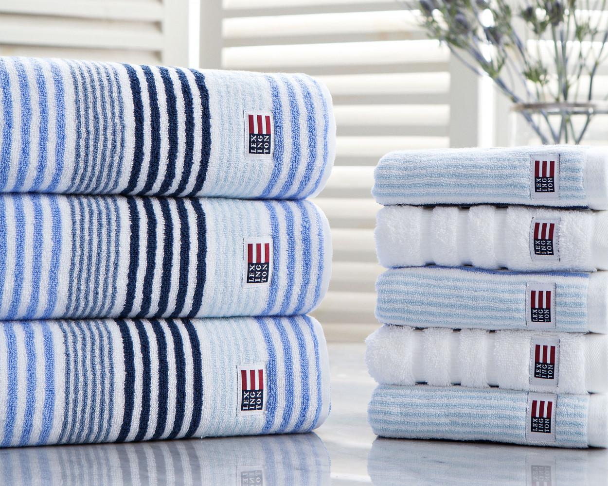 Original Striped Bath Towel Blue ...