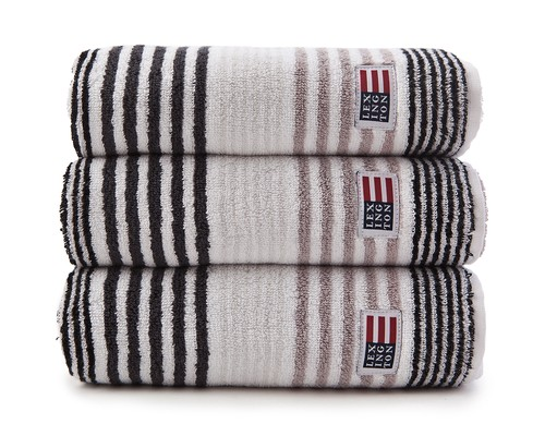 Original Striped Towel Gray