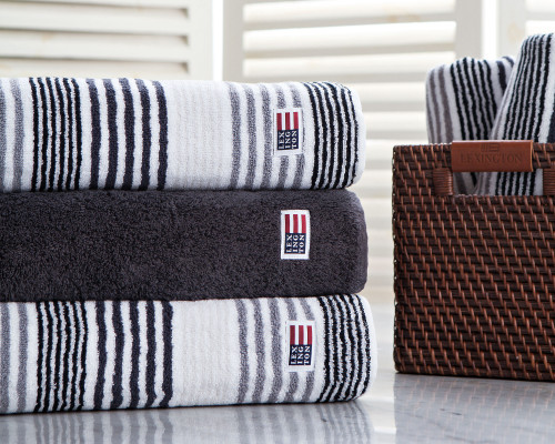 Original Striped Bath Towel Gray