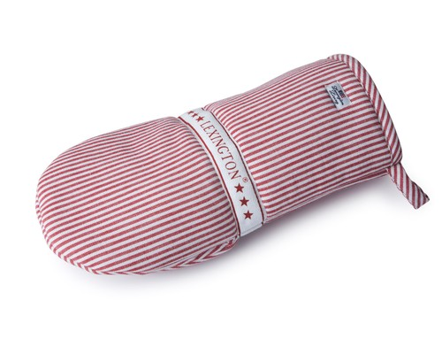 Oxford Red/White Striped Mitten