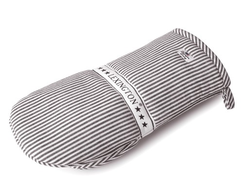 Oxford Dark Gray/White Striped Mitten