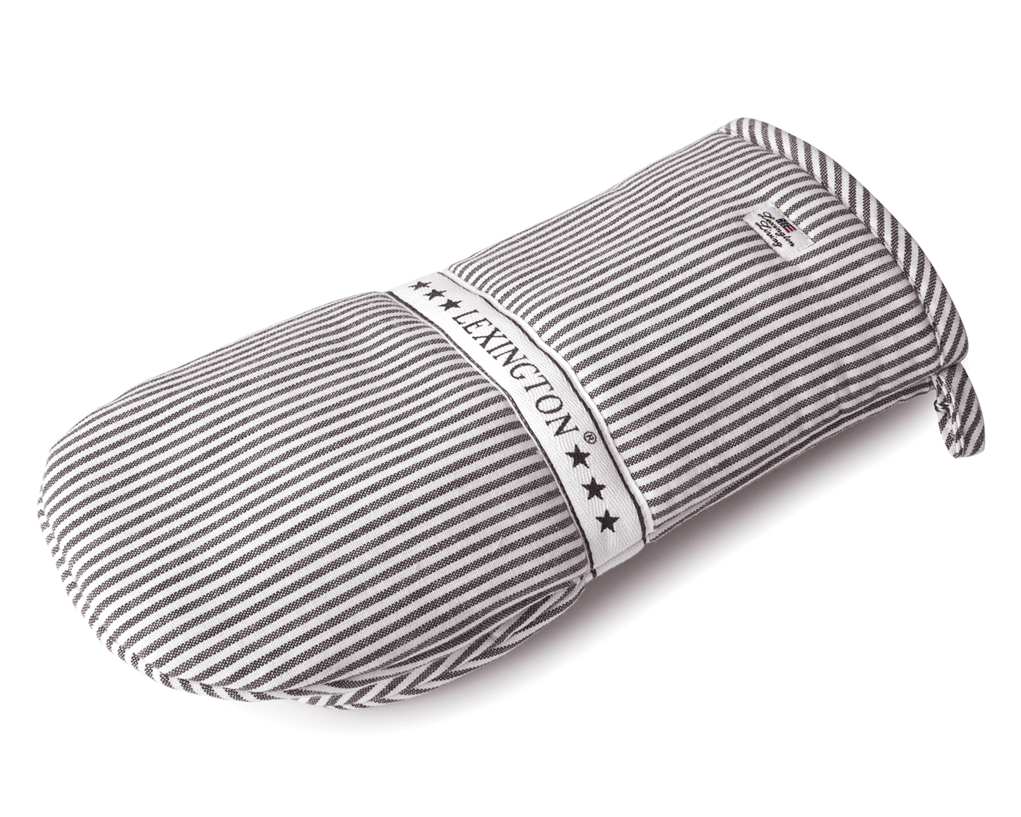 Icons Oxford Dark Gray/White Striped Mitten