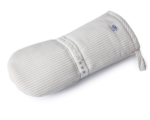 Oxford Beige/White Striped Mitten